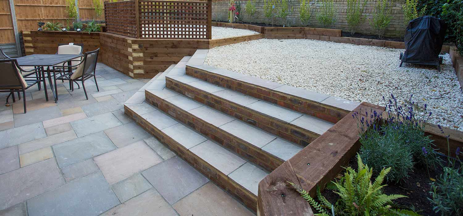 Hard landscaping watford harrow r j landscapes london for Hard landscaping